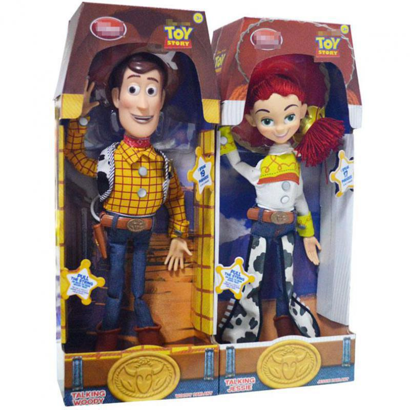 45cm Toy Story 3 Talking Woody Jessie Pvc Action Figure Collectible Model Toy Doll Cute Kids Electrified With Voice Toy 4pcs set anime toy story 3 buzz lightyear woody jessie pvc action figure collectible model toy kids gifts 14 5 18cm zy468