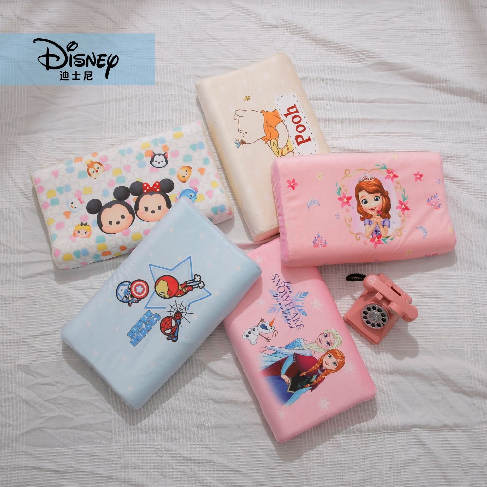 US $28 74 41% OFF|Disney Baby Thailand Pure Natural Latex Pillow Remedial  Neck Protect Vertebrae Health Care Orthopedic Anti Static Pillow 3 6 age-in