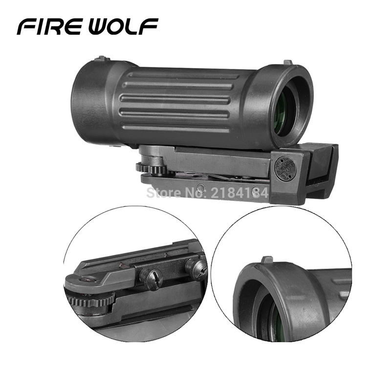 4X45 4X Fiber Airsoft Rifle Scope Sight with 20mm Picatinny Rail for Hunting Riflescope цена