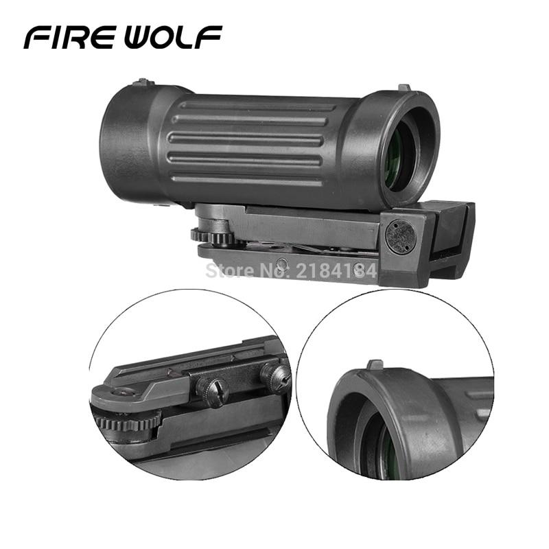 4X45 4X Faser Airsoft Zielfernrohr Anblick mit 20mm Picatinny Schiene für Jagd Zielfernrohr
