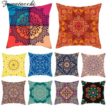 Fuwatacchi Datura Flowers Printed Cushion Cover Home Pillow Covers Decoration for Car Throw Pillows Sofa Pillowcases