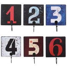 Gancho colgante con decoración Digital Retro, colgante con diseño Digital Vintage creativo para colgar en la pared, gancho para colgar en la ropa, tienda, vestidor o abrigo