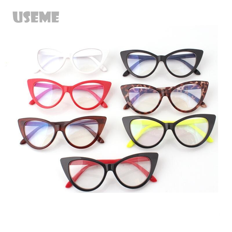 5b5dc52b78 Hot Fashion Retro Sexy Women Eyeglasses Frame Cat Eye Clear Lens lady Eye  Glasses Drop free Shipping-in Sunglasses from Apparel Accessories on ...