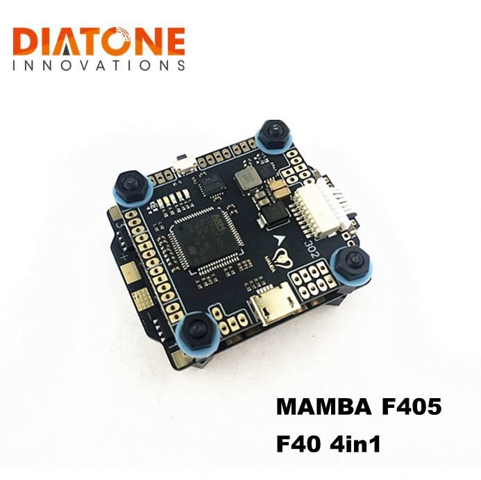 Diatone MAMBA F405 MK2 Controlador de Vôo & F40 40A 3-6S DSHOT600 Multicopter Brushless ESC Para RC Models parte Acessórios