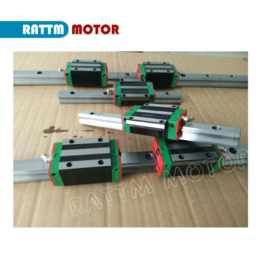 Image 4 - Square Linear guides sets 6pc 400/1000/1500mm & 3pc Ballscrew 2005 400/1000/1500mm with Nut & 3set BK/B15 & Couulinglinear guide setlinear guideguide linear -