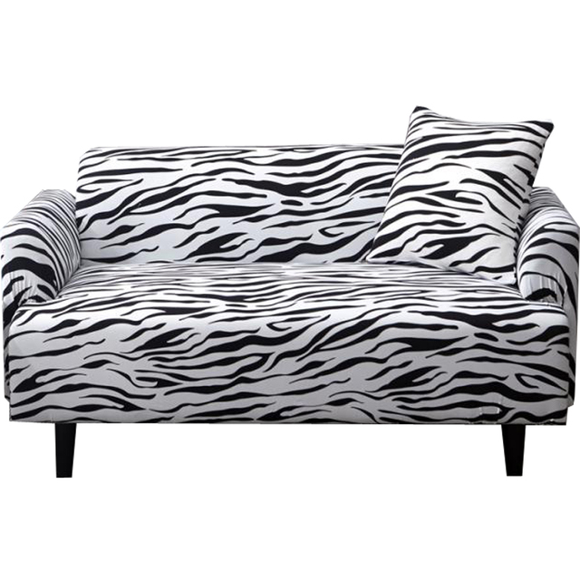 Papa&Mima Print Leopard pattern Stretch Sectional Sofa Covers For