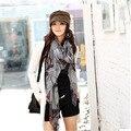Бесплатная Доставка Корейской версии весной и чернила стиль фэнтези Бегония шарфы вуаль шаль длинный шарф женщины оптовая