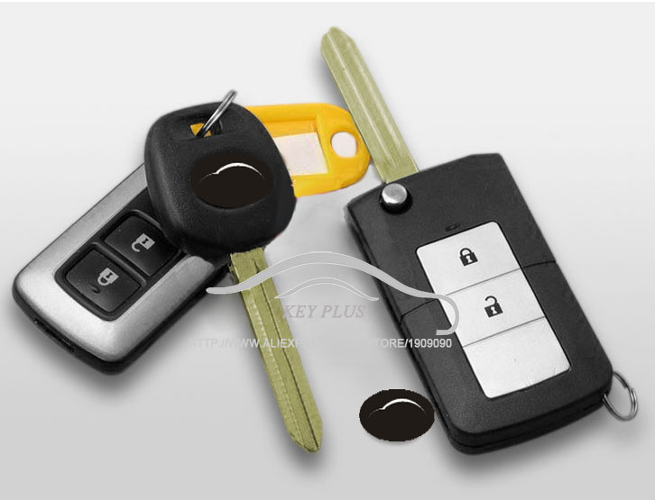 Modified Flip Folding Remote Key Shell 2 Buttons For Toyota Highlander Yaris FOB Car key Case Blanks