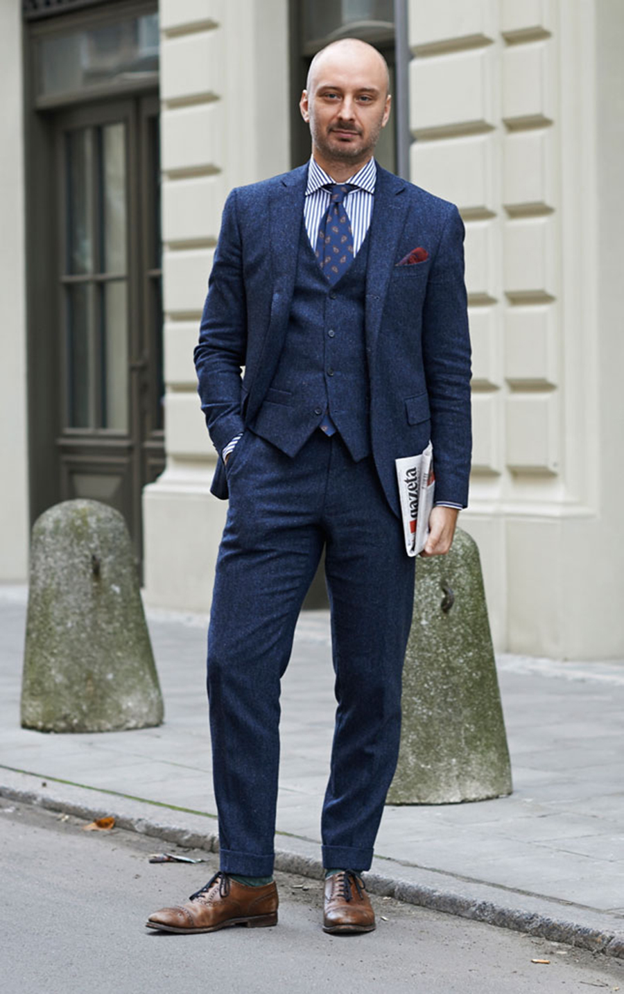 Mens 3 Piece Navy Suit | My Dress Tip