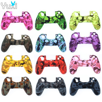 silicone cover skin for dualshock 4 ps4 pro slim controller case and thumb grips caps for play station 4 game accessories YuXi Soft Silicone Rubber Case Cover For Play Station Dualshock 4 PS4 DS4 Pro Slim Controller Skin + Joystick Stick Grips Caps