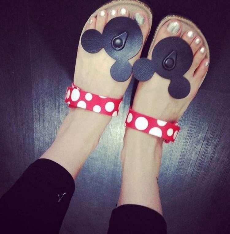 Sommer Maus Schuhe Frau Sandalen Mujer Nettes Dot Flip-Flops frauen Kork Hausschuhe Damen Mädchen Flachen Sandalen Strand Schuhe Plus größe