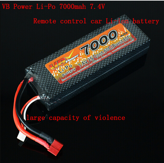 new Power Li-Po 7000mah 7.4V 2S 60C Rechargeable lithium battery large capacity super violence remote control car Li-ion battery 3 7v polymer lithium battery 9074135 20000mah large capacity mobile power charging treasure diy rechargeable li ion cell