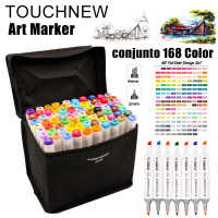 TOUCHNEW 168 Colors Artist Dual Head Art Sketch Markers Set For Manga Marker School Drawing Marker