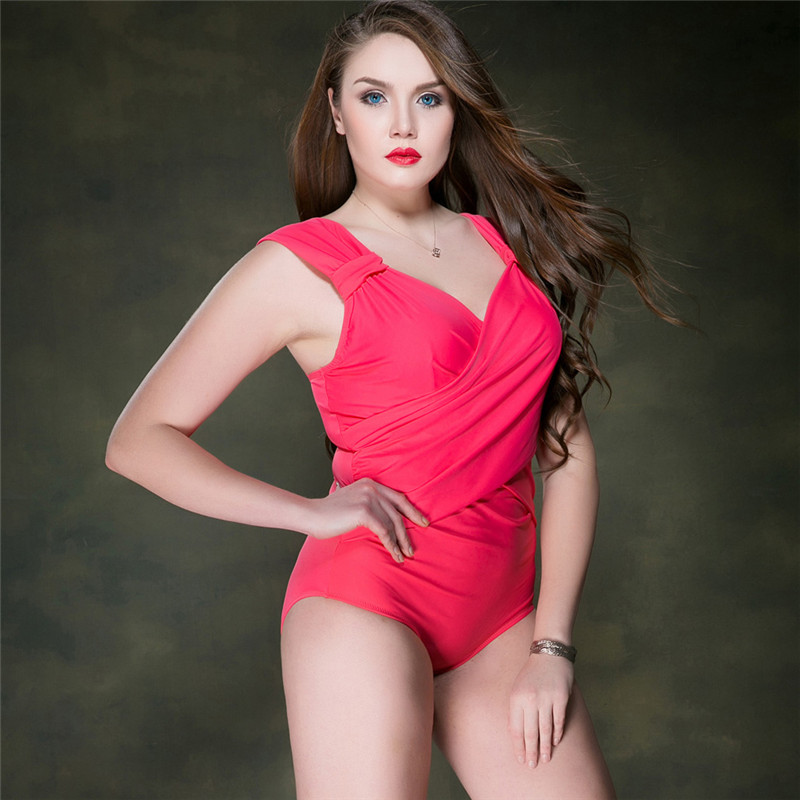 2017 Sexy Women Swimwear With Wire With Chest Pad One Piece Plus Size Swimsuit Swimming For Women Sport Professional Swimsuit