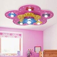 ילדי ילדה ילד אור התקרה הוביל חדר שינה אור אור תקרת העין קריקטורה יצירתי פרח חם ומקסים ZA622 ZL177