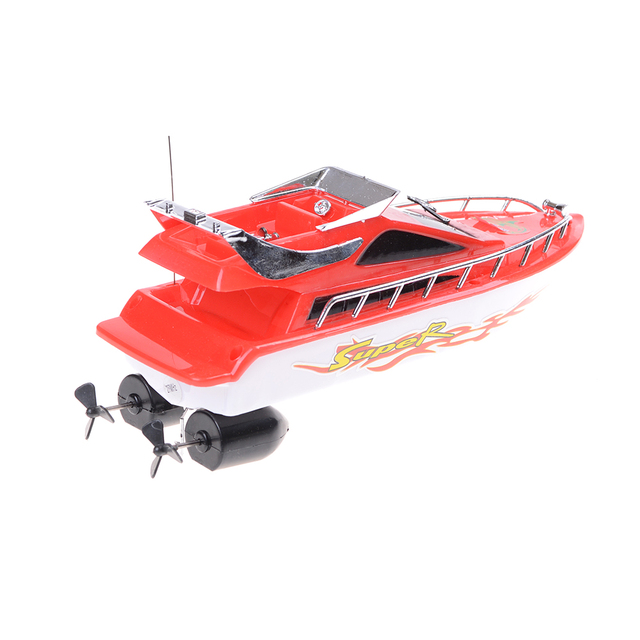 RC Boat Ship RC Boat High Speed Remote Control Boats Electric Plastic Waterproof Toys Model Ship Sailing for Chirldren