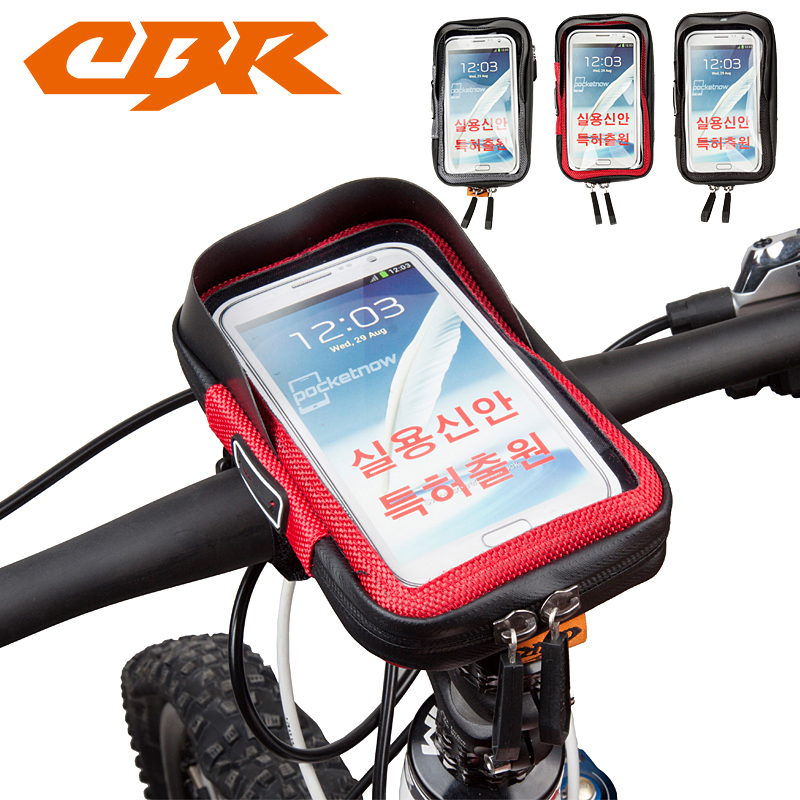 CBR Outdoor Mobile Phone Bag Waterproof MTB Cycling Bicycle Frame Front Tube Bike Package Handlebar Bag Accessories