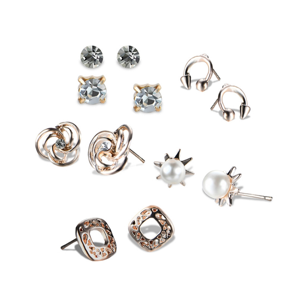 New Fashion Ear Nail Combination Suit For Popular Geometric Ear Ornaments