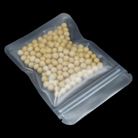 100Pcs/Reclosable Matte Translucent Zipper Ziplock Packaging Pouch Bag Food Dried Fruit Nut Packing Storage Plastic Package Bags