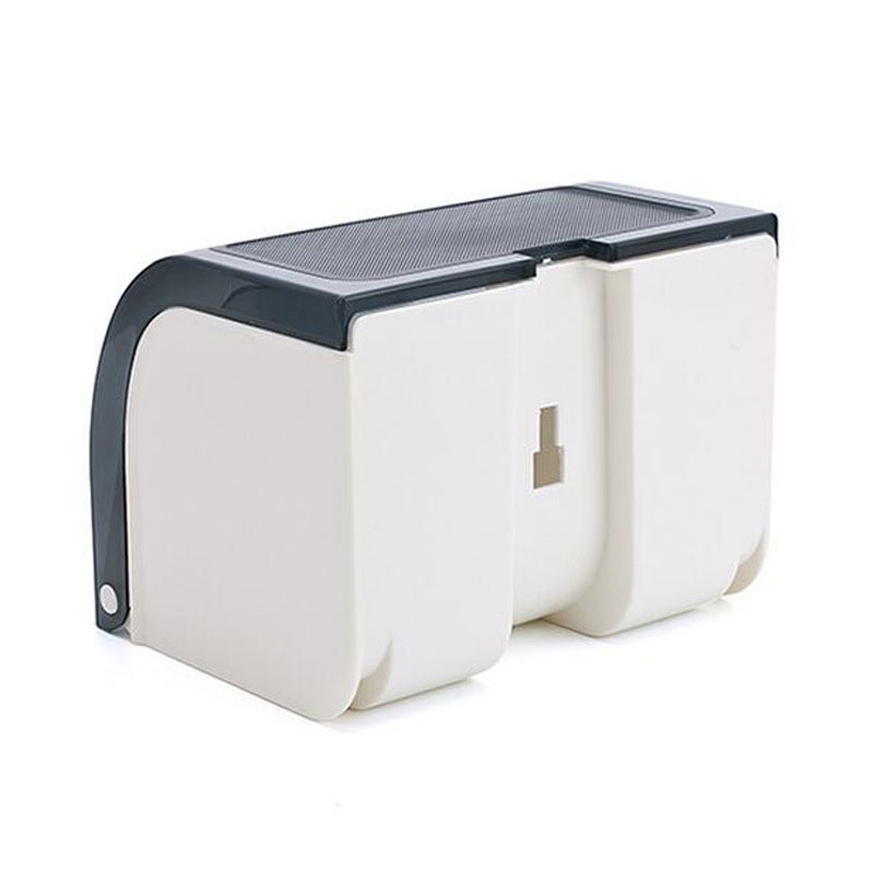 Home Paste Type Waterproof Paper Towel Box Free Toilet Paper Roll Holder Waterproof Punch Tissue Box Storage Organizer in Storage Boxes Bins from Home Garden