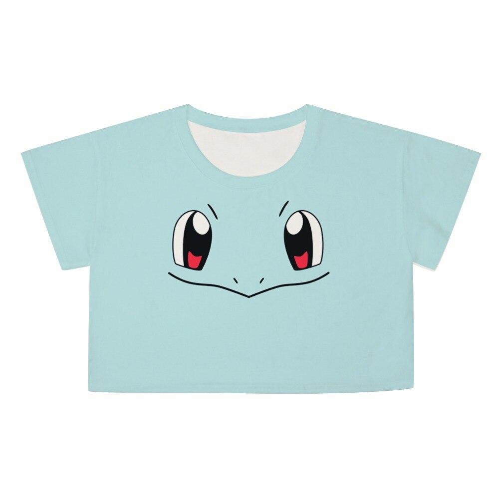 7fa44c7dd8142 Nueva Harajuku Blusas de dibujos animados pokemon blusa entallada de  impresión ocio camisetas cuello redondo corta rematan en Camisetas de Moda  y .