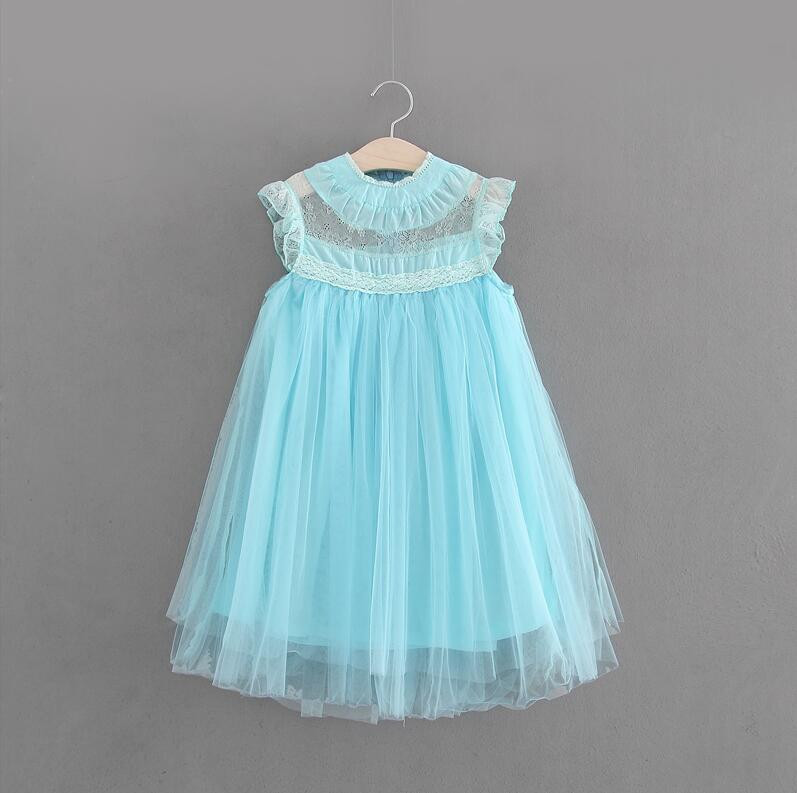 Girl Lace Tulle Dresses 2018 Summer Kids Dress European Style Girls  Costumes Cute Girls Party Dress ... b546f4b956eb