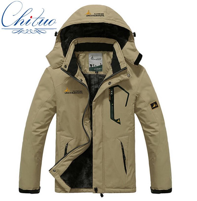 New winter coat jacket male female waterproof windproof jacket Men Plus thick velvet warm casual coat
