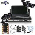 4CH HD 1200TVL=720P 1500TVL=960P 7 inch Displayer CCTV KIT System IR Bullet Outdoor Surveillance Camera Security System HDMI VGA