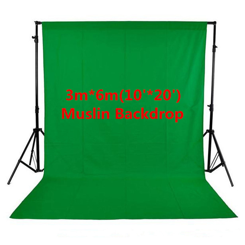Photo Studio Photography 10ft x 20ft/3m x 6m Studio Solid Background Muslin Backdrop Green 100% Cotton High Quality PSB3B 300cm 200cm about 10ft 6 5ft fundo harp moonlight candles3d baby photography backdrop background lk 1859