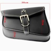 Black Motorcycle PU Leather Saddlebag Saddle Bag Luggage Bag Fit For Harley Davidson Sportster XL883 XL1200