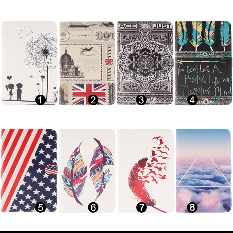 Fashion Pattern Pu Leather Case Cover For Apple iPad Mini 4 Cases Skin Fundas Coque For iPad Mini4 Tablet Y4D33D