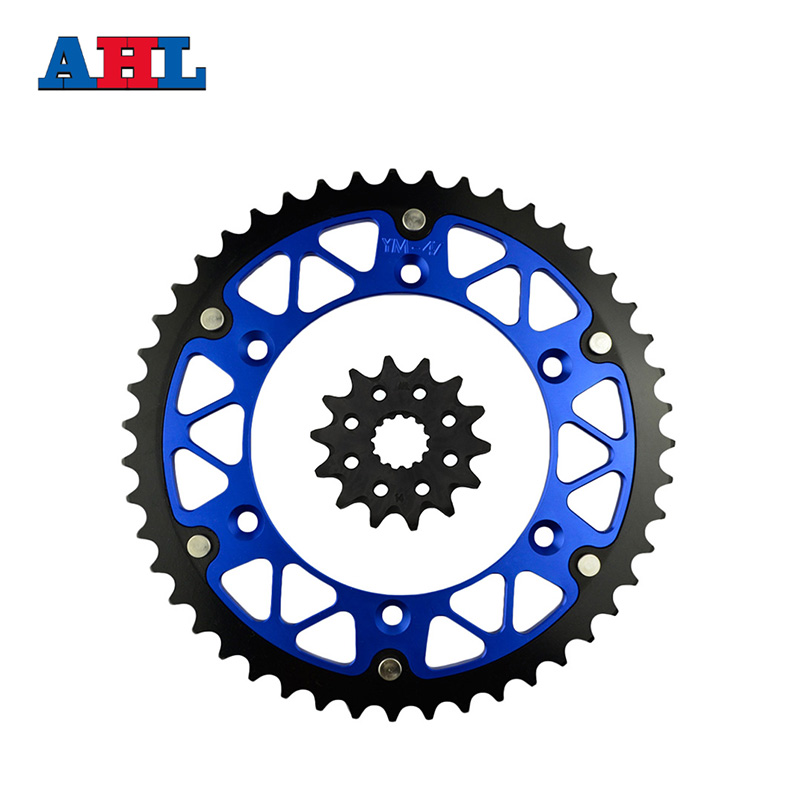 Motorcycle Parts 47-14 T Front & Rear Sprockets Kit For YAMAHA WR250Z WR 250Z WR250 WR 250 Z 2000-2003 Gear Fit 520 Chain