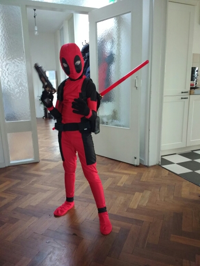 Cool KIds Deadpool Costume Red Full Body Spandex Boy Deadpool Cosplay Costumes Two Style Deadpool Costume
