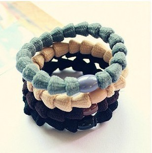 Korea multiple intersecting hair ring hair clips for women hair ornaments flexible high elastic rim Hair Band