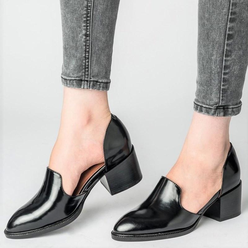 821aba10d 2018 теневые женские туфли-лодочки с острым носком модельные туфли из лакированной  кожи туфли-