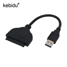 Kebidu USB 3.0 to Sata 2.5 inch Hard Drive HDD SSD DVD CD Rom Adapter Converter Serial ATA Cable For Laptop Optical