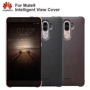 Image 1 - Huawei Original Smart Phone Case View Cover Flip Case For Huawei Mate9 Mate 9 Housing Sleep Function intelligent Phone Case