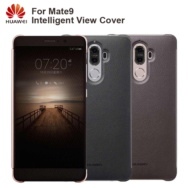 Huawei Original Smart Phone Case View Cover Flip Case For Huawei Mate9 Mate 9 Housing Sleep Function intelligent Phone Case