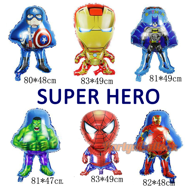 Birthday Superman Hero Spiderman Ironman Batman Cartoon Birthday Balloon Toys fo