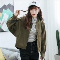 2018 New Jacket Denim Jeans Long Sleeve Korean Style Jacket Women Casual Fashion Coat Female Baseball Uniform A3285