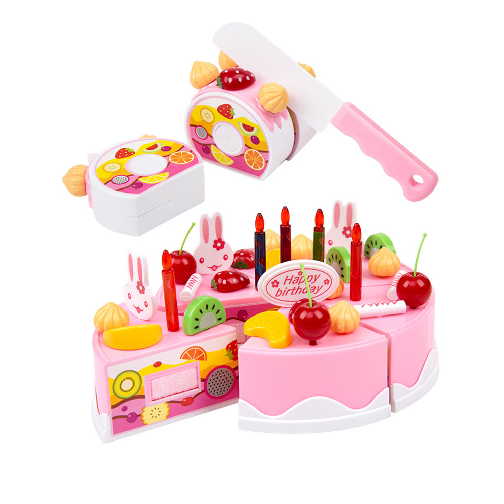 54PC Baby Toys Kids Pretend Role Play Kitchen Fruit Vegetable Food Toy Cutting Set Gift Dropship18apr25