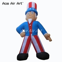 giant cartoon inflatable Uncle Sam balloon for event with free fan in Texas Made In China