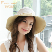 Female Sunhat Straw Leisure Sunscreen Sunshade Cap Women UV proof Breathable Bowknot Spring Summer Casual Outdoor Hats H200