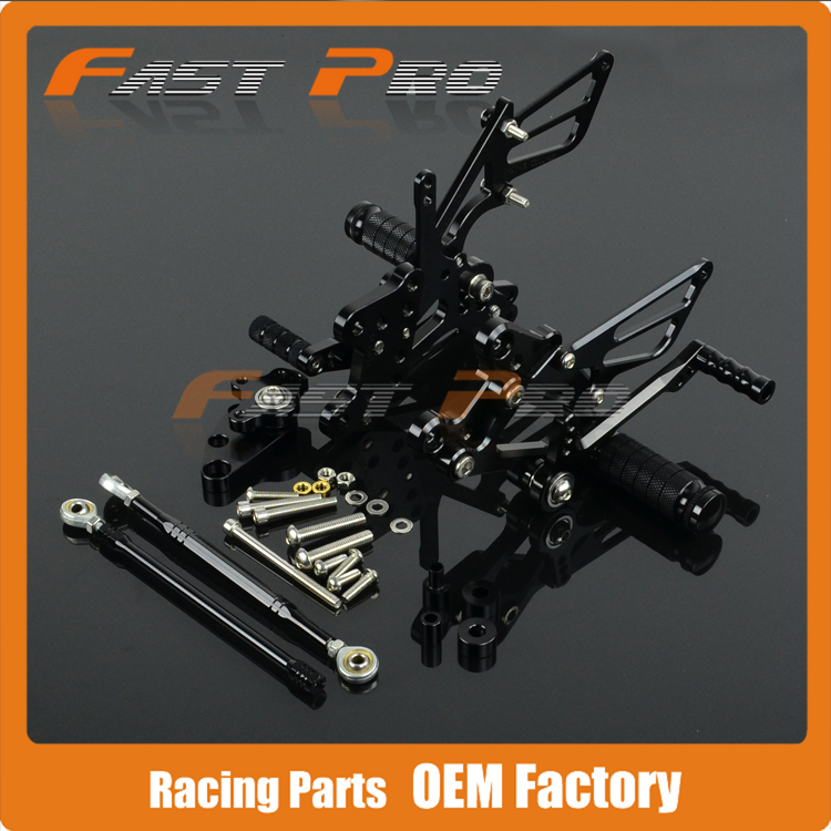CNC Motorcycle Adjustable Billet Foot Pegs Pedals Rest For HONDA CBR600RR CBR 600RR 2007 2008 2009 2010 2011 2012 2013 2014 front rider foot pegs brackets for honda cbr1000rr cbr 1000 cbr1000 rr 2008 2009 2010 2011 2012 2013 2014 2015 black