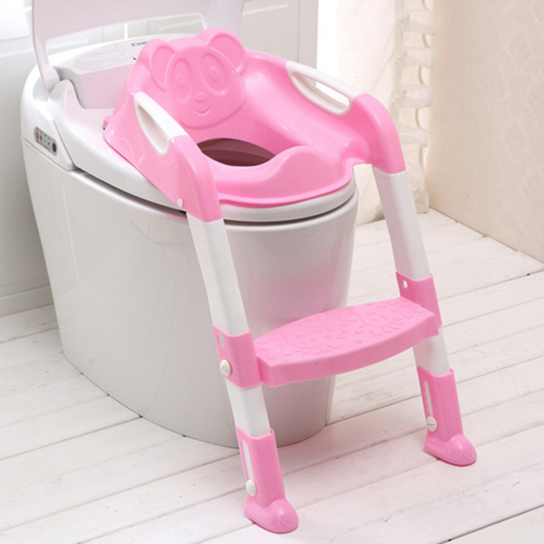 Kids Training Toilet Seat Baby Foldable Potty Portable Travel Potty Safety Ladder Potty Chair Anti-skid Toilet Seat Training