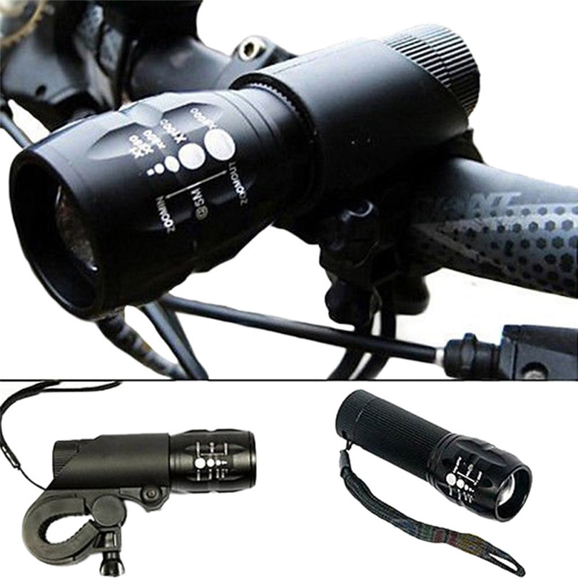 B2 Hot Cycling Bike Bicycle LED Front Head Light Torch Lamp With Mount Bicycle Light Accessories Retail&Wholesale Free Shipping