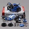 Nova vinda crianças DIY brinquedos educativos 1:12 novo Metal ZX 6R motocicleta montagem modelo de brinquedo