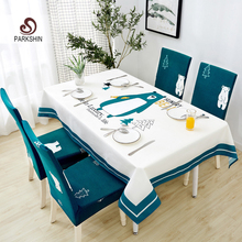 Parkshin Modern Cartoon Bear Tablecloth Home Kitchen Rectangle Decorative Table Cloths Party Banquet Dining Table Cover 4 Size
