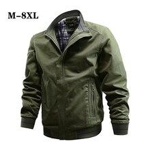 Plus Size Military Jacket Men Spring Autumn Cotton Pilot Jacket