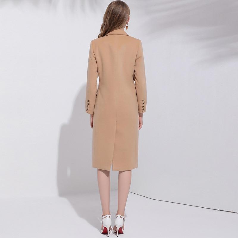 Veste De Laine Double Et Pour Boutonnage 2018 Manteau Long taille Camel Solide Turn Femmes Large Les down Col Élégant Vêtements wqOpPvq